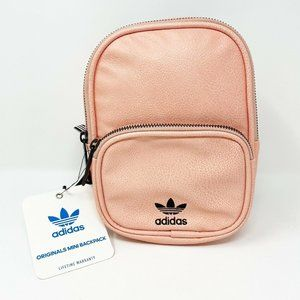 Adidas Pebbled Leather Mini Backpack Pink Bag New
